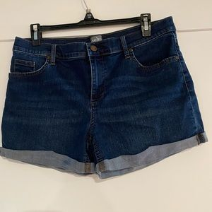 Women's deep blue jean shorts